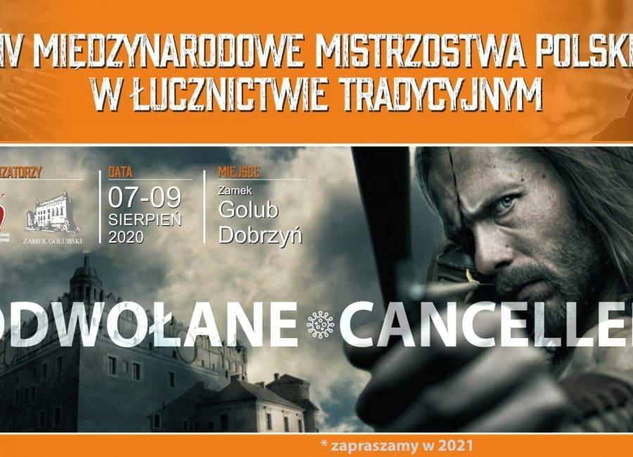 """Ακύρωση του Πολωνικού Πρωταθλήματος Παραδοσιακής Τοξοβολίας """"GOLUB DOBRZYN 2020"""""""